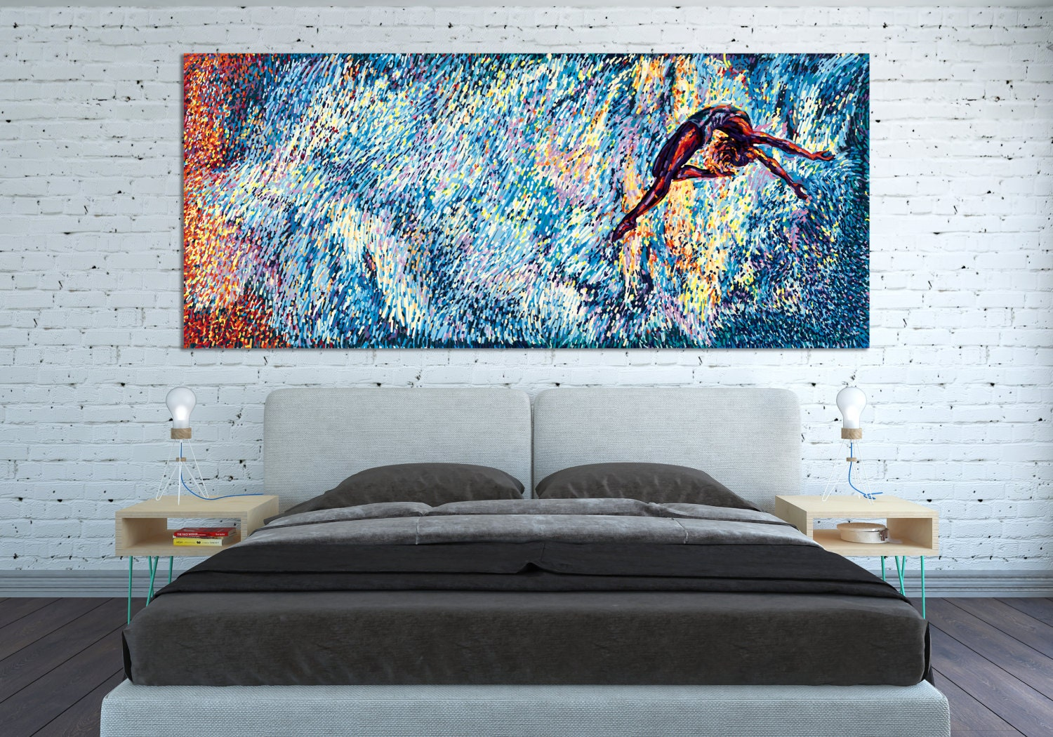 CANVAS PRINT Horizontal Wall Art Extra Big Huge by ...