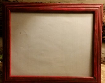 Painted and Distressed Red 8x10 Picture Frame,  Red Picture Frame