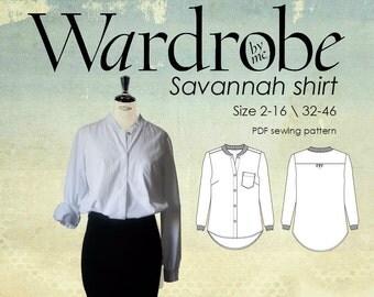 Women's shirt PDF sewing pattern/Ladies shirt Pdf pattern/blouse pattern/Ladies blouse pdf sewing pattern/button down shirt pdf pattern