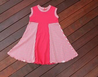 Girls Dress, Baby Girl Clothes, Swirl Dress Raspberry