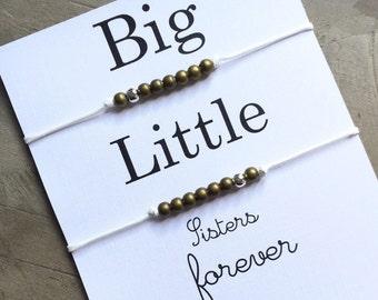 Big little sorority, big little gift, big little bracelet, Bracelet set, big and little sorority, sorority gifts, big little, big sister A14