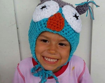 Tuque grey and turquoise