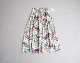 pretty graffiti skirt / abstract print skirt / full skirt