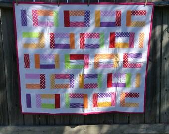 Polka Dot Junction Girls Baby Quilt