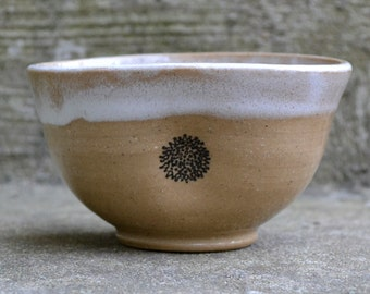 Small Tan and White Bowl