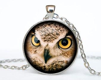 Owl necklace Owl pendant Owl jewelry Owl symbol wisdom necklace bird pendant nature jewelry