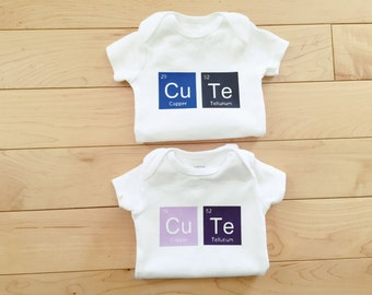 Cute Periodic Elements Bodysuit / Baby Bodysuit Funny / Baby Clothes / Nerd Baby / Math Humor / Science Humor
