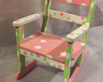 Child's Rocking Chair LOTSA DOTS!