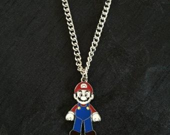 Silver Plated Nintendo Super Mario Necklace