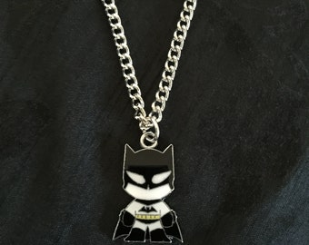 Silver Plated DC Super Heroes Batman Necklace