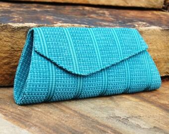 Knitwear Clutch - Blue Knitwear Purse - Evening Clutch - Evening Wear - Handbag - Party Wear - Handmade