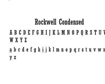 Metal Letters- Rockwell condensed