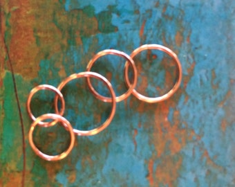 Rose Gold Cartilage Earring Hoop Septum Ring Helix Tragus Endless Hoop Gold Silver Tiny Nose Ring Piercing Rook Conch Orbital Set Sleepers