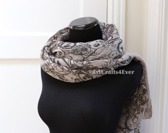 Infinite Fall/Winter Colorful Doodle Sugar Skull Pattern Scarf DL0829-4