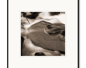 Black and white photography, sepia prints, Colorado river, White River Forest, river rock whitewater, geologic formation, rock shapes, C