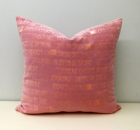 Pink Velvet Pillow Cover Velvet Pillow Decorative By Artdecopillow