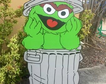 Oscar The Grouch Cut Out - Oscar the Grouch Cutout - Oscar the Grouch - Sesame Street Birthday - First Birthday - Character Cutout- Party
