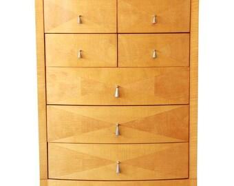Baker Furniture Satinwood Highboy Dresser