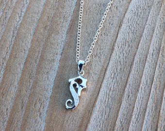 925 Sterling silver Seahorse Necklace Seahorse pendant Silver seahorse Jewelry