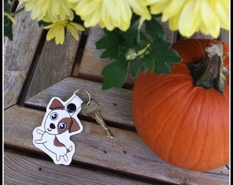 Jack Russell Terrier Key Ring