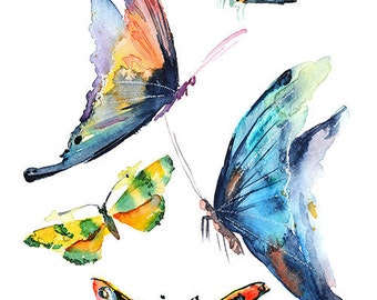 watercolor butterfly, butterfly print, Poster, Wall art, Art print, Digital Print, INSTANT DOWNLOAD.