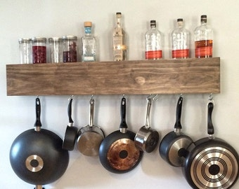 Custom Shelf with Optional Pot Rack