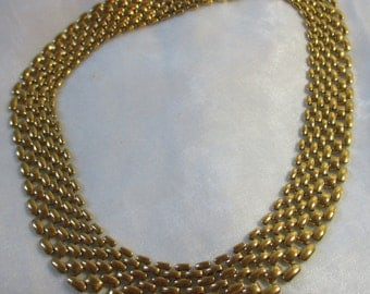 Napier Basket Weave Gold Tone Necklace