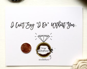 Scratch Off Be My Maid Of Honor? Ask Maid Of Honor Scratch Off Proposal Card
