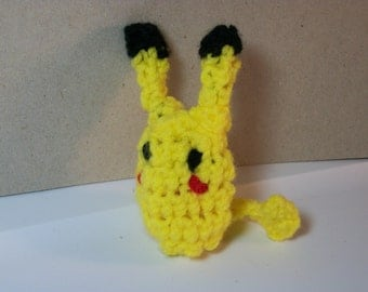 Pikachu crocheted finger puppet!
