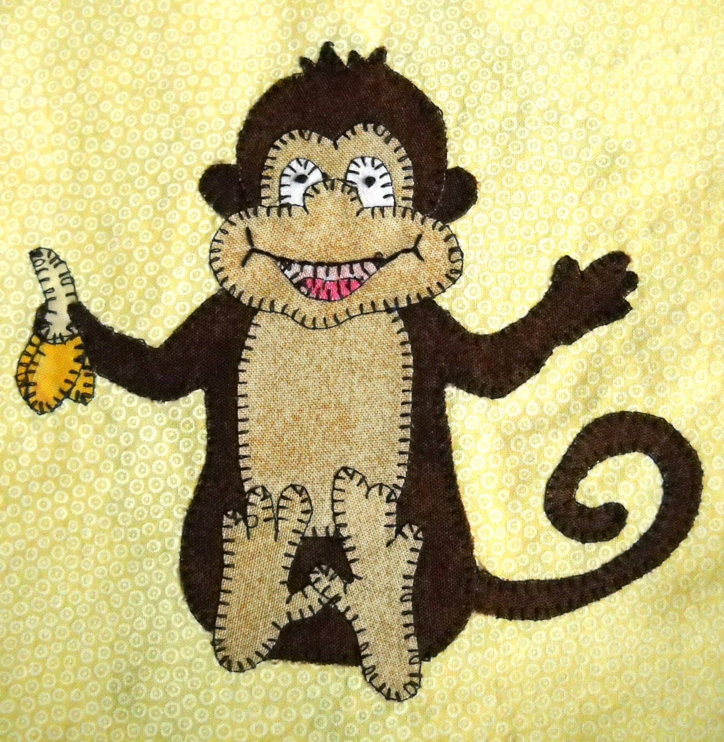 Monkey Pdf Applique Pattern African Animal Quilt Pdf Pattern