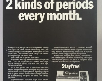 1970 Stayfree Mini-Pads Print Ad
