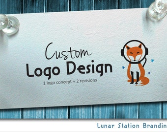 Custom logo design one concept two revisions