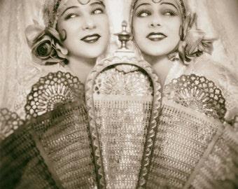 Ziegfeld Follies photo Sisters G black and white vintage antique photograph wall art print