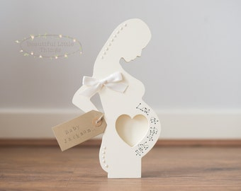 Handmade Baby Bump Pregnancy Scan Love At First Sight Frame Personalised
