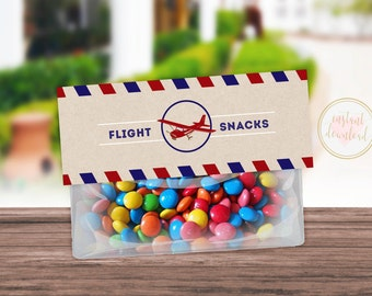 Airplane Birthday, Airplane Party, Plane Party, Plane Birthday, Airplane Treat Topper, Vintage Airplane, Lolly Bag Topper, INSTANT DOWNLOAD