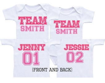 Twin Baby shower gifts Twin Matching Outfits Drinking Buddies
