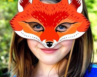 fantastic mr fox mask template - red fox mask etsy