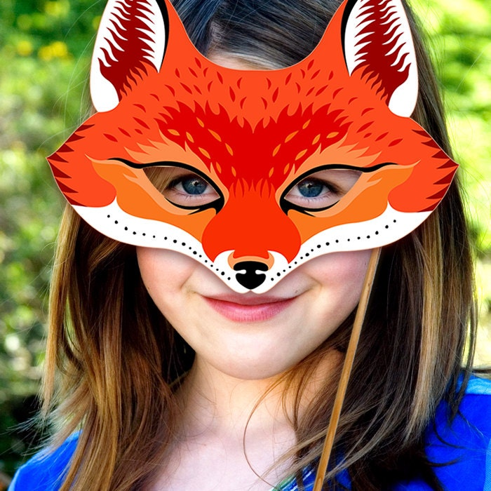 This is a picture of Lively Printable Fox Mask