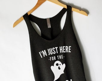 Halloween I'm Just Here for the Boos Tacos Tank Top for Women - Funny Halloween Shirts - Halloween Party Shirts - Popular Tanks for Women