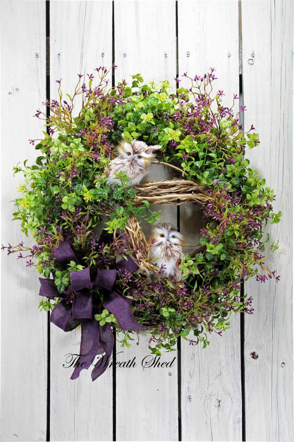 Owl Country Wreath Everyday Wreath Front Door Wreath