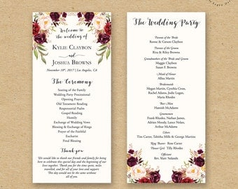 Catholic wedding program – Etsy
