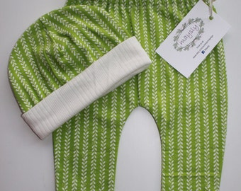 Green Vines Leggings & Hat Set