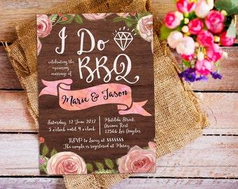 I do bbq invitation, i do barbecue party invitation, i do bbq couple shower, couple shower invitation, i do bbq party, engagement party