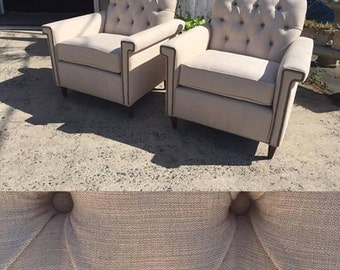 Mid-Century Modern Squared Low Club Chairs~ Design 59 Furniture