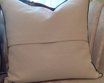 """pillow covers pair of gray cream toile envelope 20"""" x 20"""""""