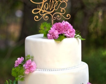 All You Need Is Love | Wedding Cake Topper | le petit collection