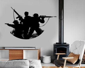Wall Vinyl Soldier Military War Army Cool Decal Mural Art 1620dz