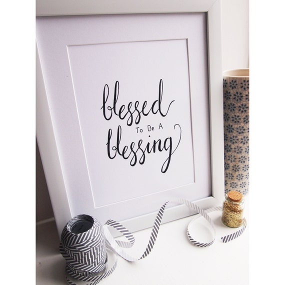 Wall Art Blessed To Be A Blessing Home Decor Calligraphy