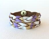 Essential Oil Diffuser Bracelets, Braided Leather Bracelet Set, Diffusing Bracelets, Stackable Bracelets, Calming Bracelet, Mommy Me Jewelry