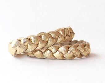 Back to School Mother Daughter Bracelet Set, Metallic Braided Bracelet Set, Essential Oil Diffuser, Matching Bracelets, Stacking Bracelet